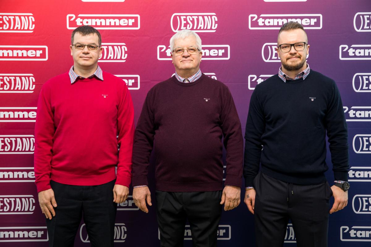 From left: Anti Tammo, Raigo Tammo, Mihkel Tammo